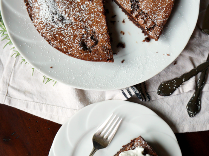 Baci-Stuffed Italian Chocolate Cake
