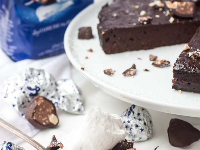Flourless Chocolate Hazelnut Cake with Chopped Baci