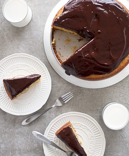Orange Citrus Olive Oil Cake with Chocolate Ganache