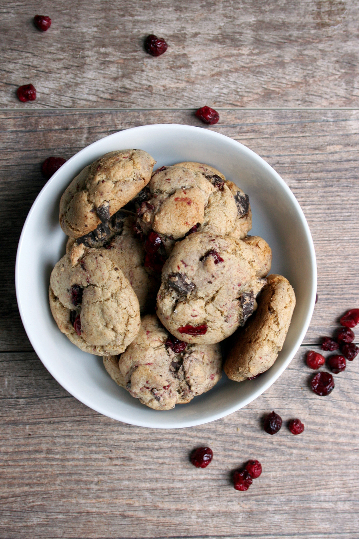 Olive Oil Chocolate Chip Cranberry Cookies