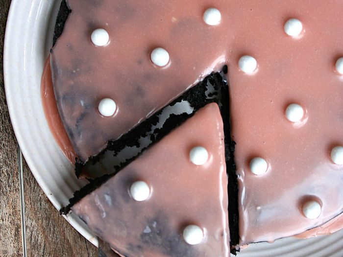 Flourless Chocolate Cake with Red Wine Glaze