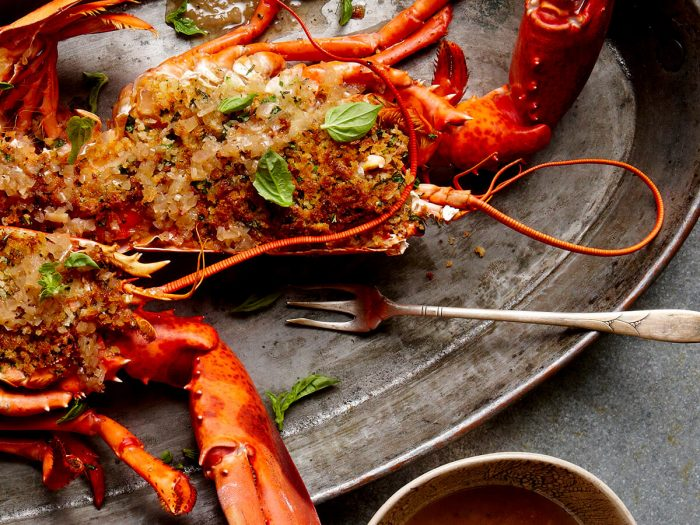 Broiled Lobster with Herbed Breadcrumbs