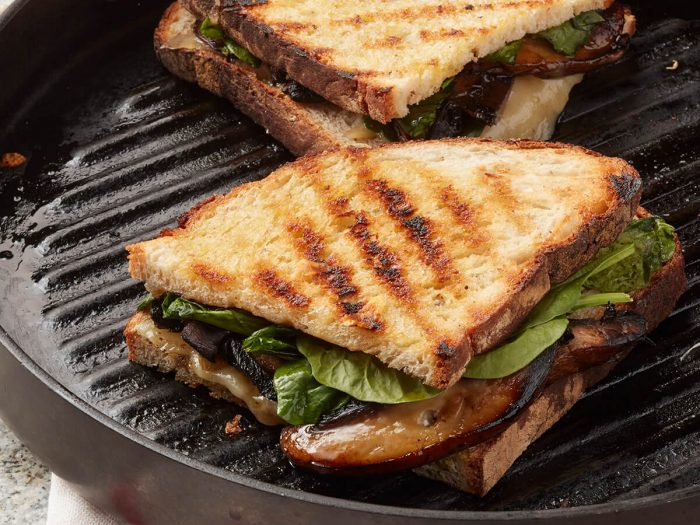 Portobello Panini with Fontina and Spinach