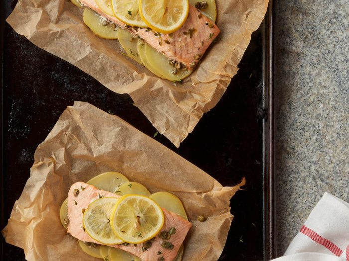 Slow-Roasted Salmon with Thyme and Capers