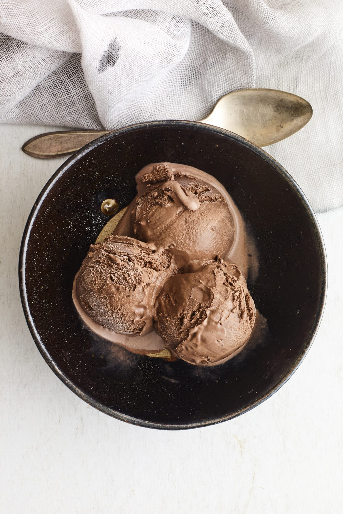 Bittersweet Chocolate and Extra Virgin Olive Oil Ice Cream
