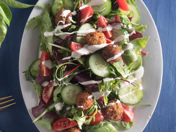 Sun Dried Tomato Falafel Salad