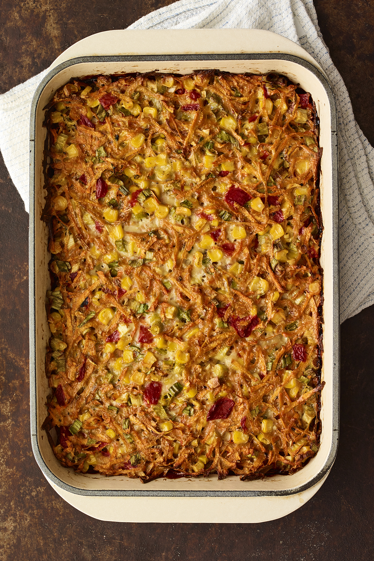 Tex-Mex Sweet Potato and Corn Kugel