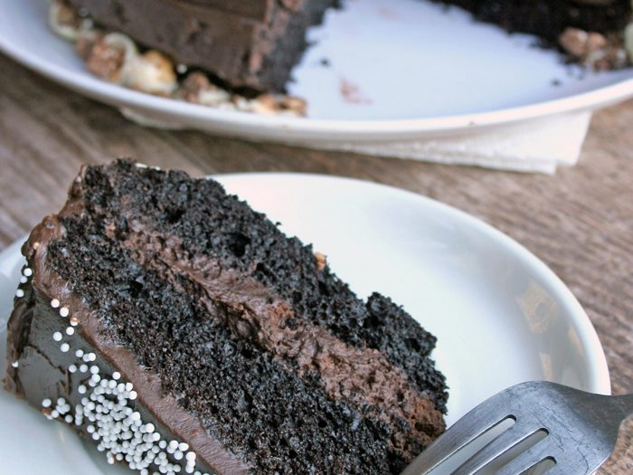 Olive Oil Chocolate Cake with Chocolate Mousse Filling