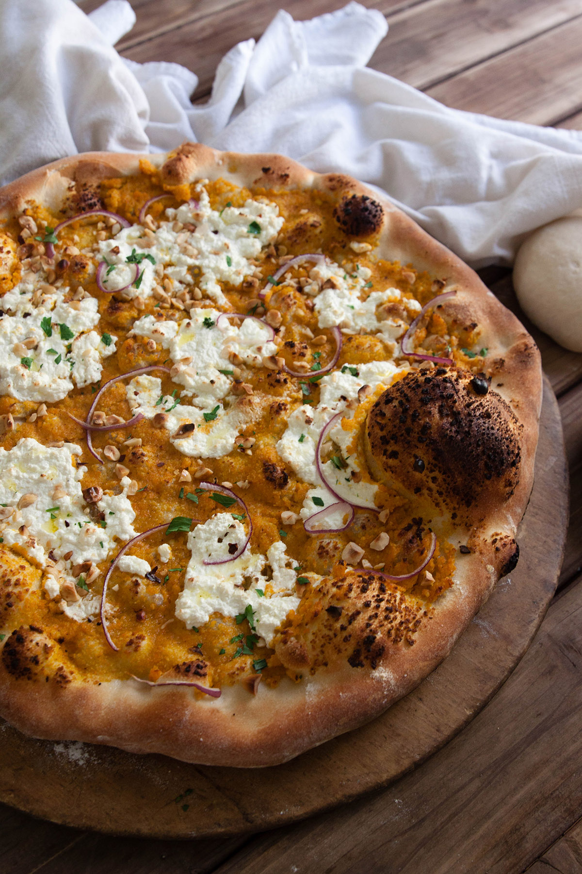Carrot and Ginger Pesto Pizza