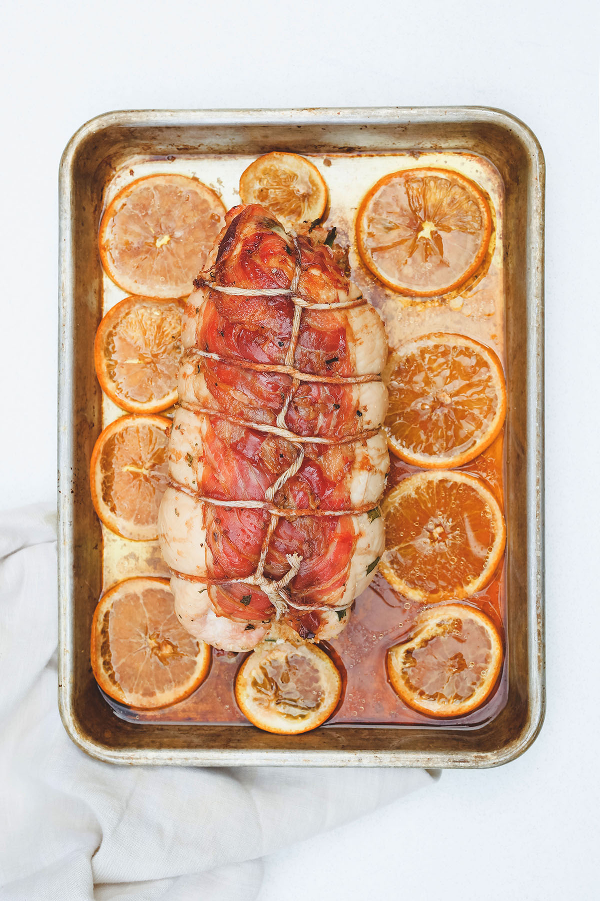 Herb Stuffed and Pancetta Wrapped Turkey Roulade