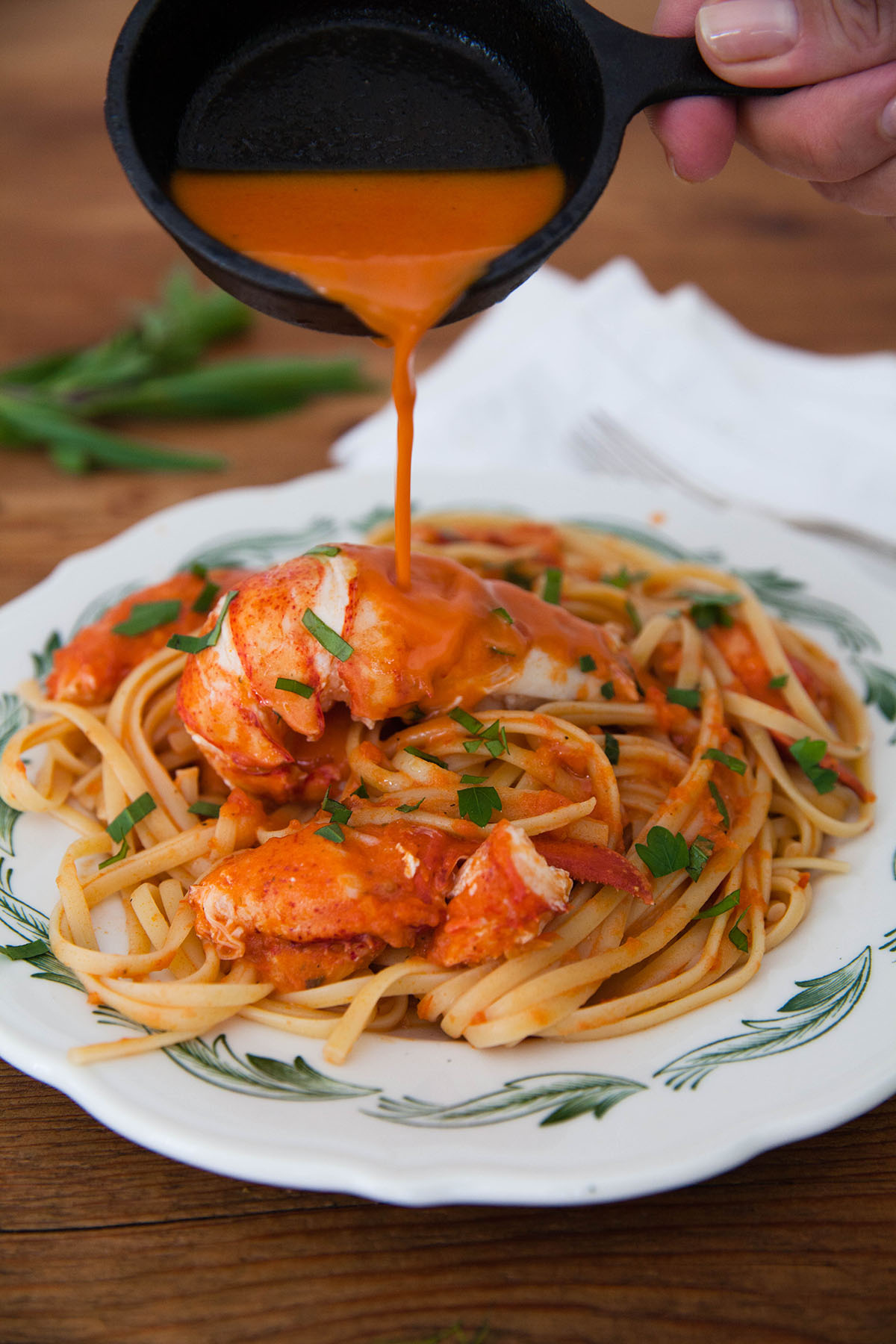 Linguine with Lobster and Herbs