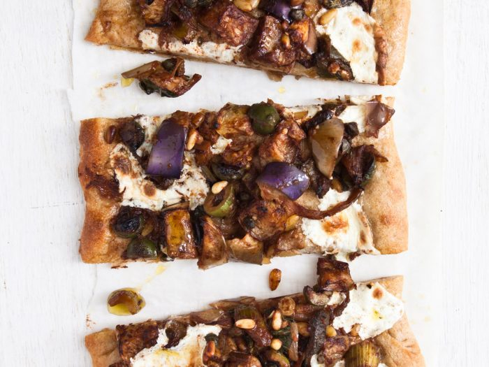 Eggplant Caponata Pizza