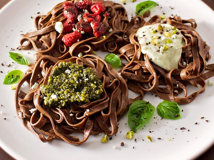 Chocolate Pasta Three Ways