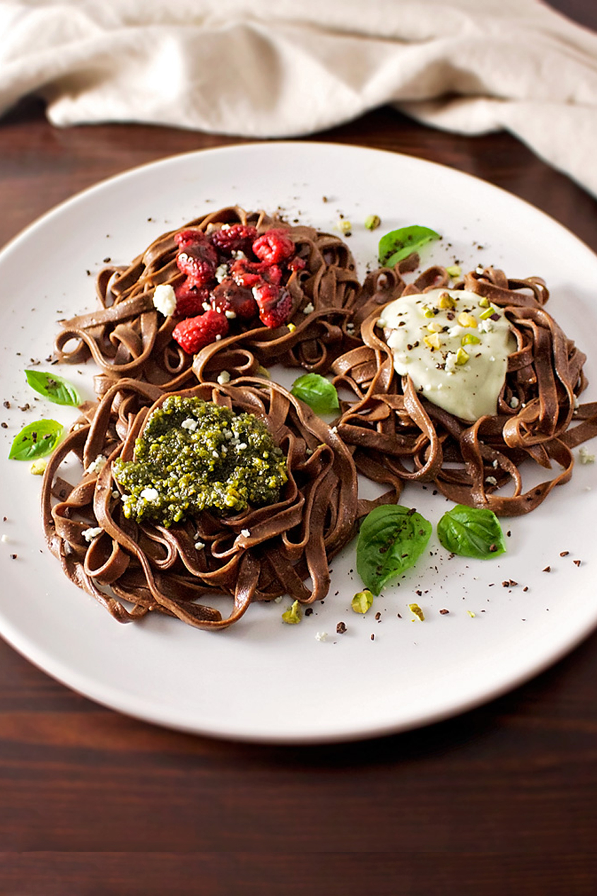 Chocolate Pasta Three Ways