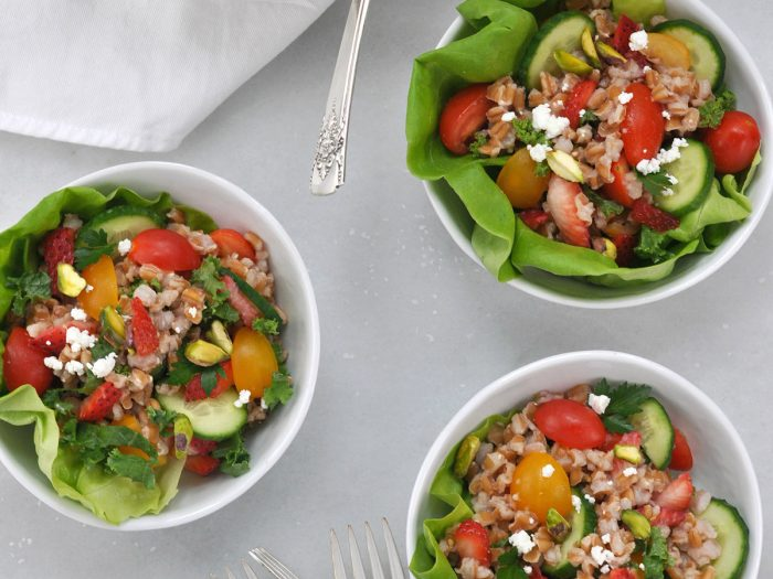 Farmer's Market Farro Salad with Strawberries