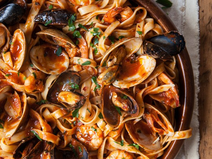Fettuccine with Shellfish