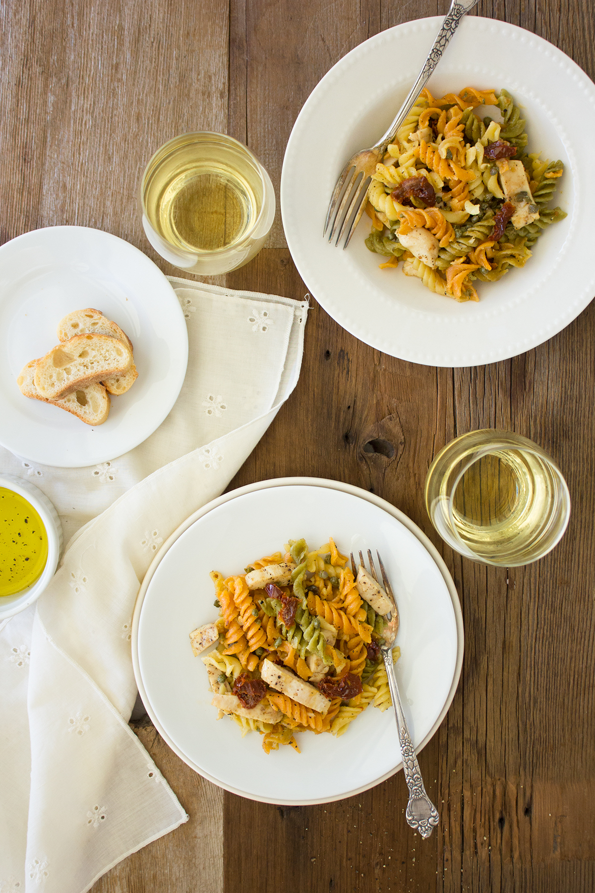 Fusilli with Sun-Dried Tomatoes, Mascarpone, and Chicken