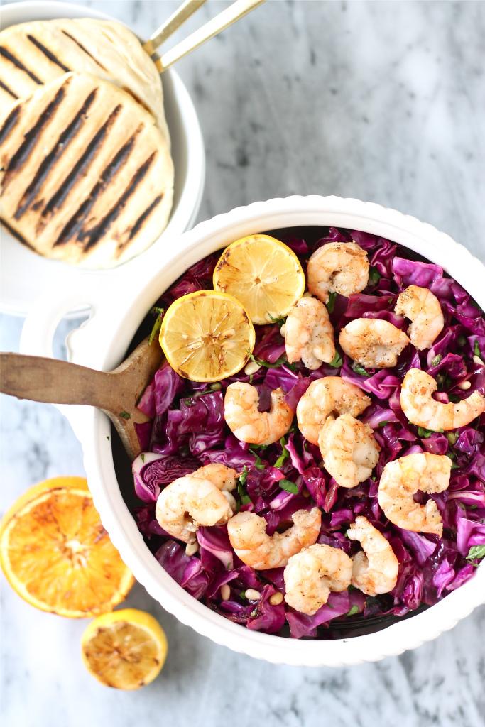 Radicchio and Shrimp Salad with Citrus Vinaigrette