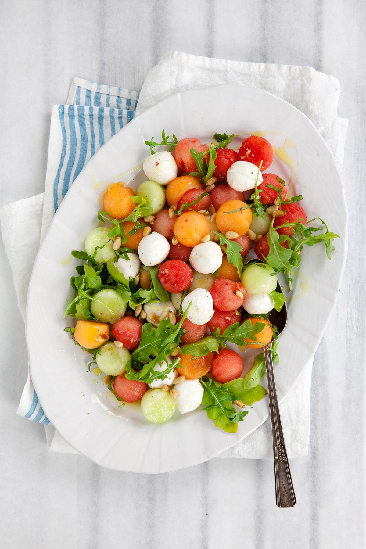 Watermelon, Arugula and Pine Nut Salad