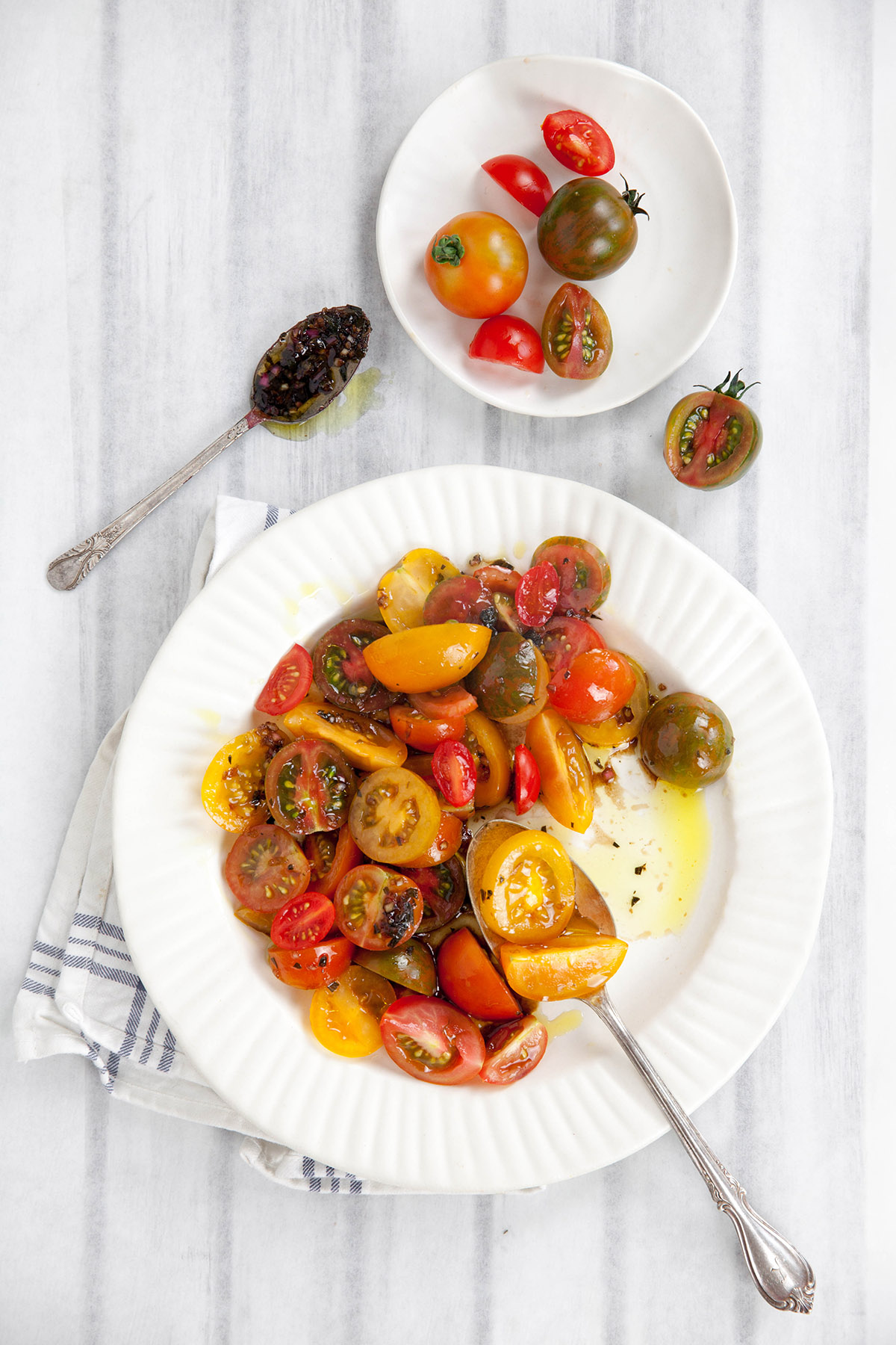Simply Marinated Heirloom Tomatoes