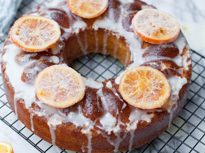 Olive Oil Bundt Cake with Tangerine Glaze