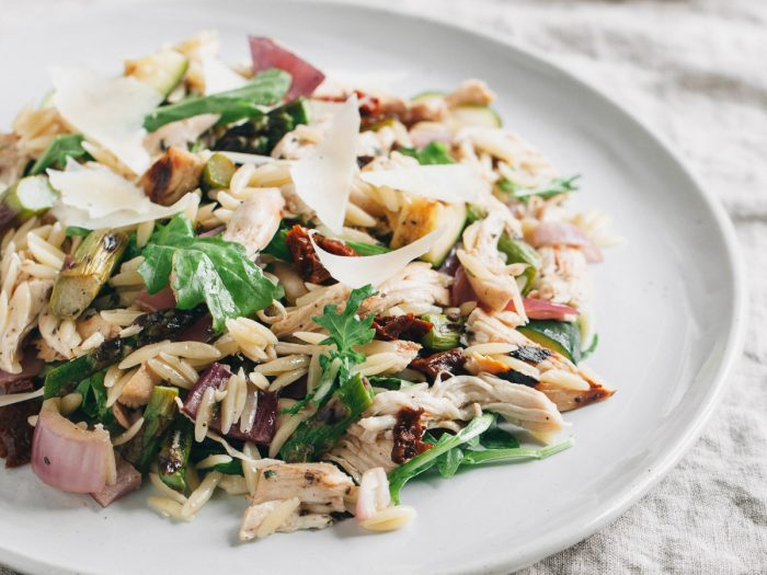Orzo Salad with Grilled Vegetables and Chicken