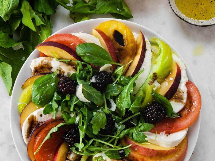 Peach and Tomato Caprese Salad