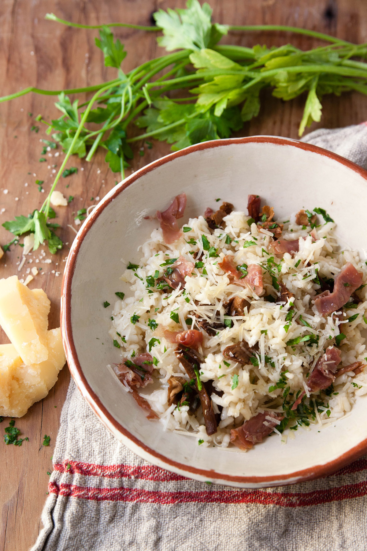 Risotto with Porcini and Prosciutto
