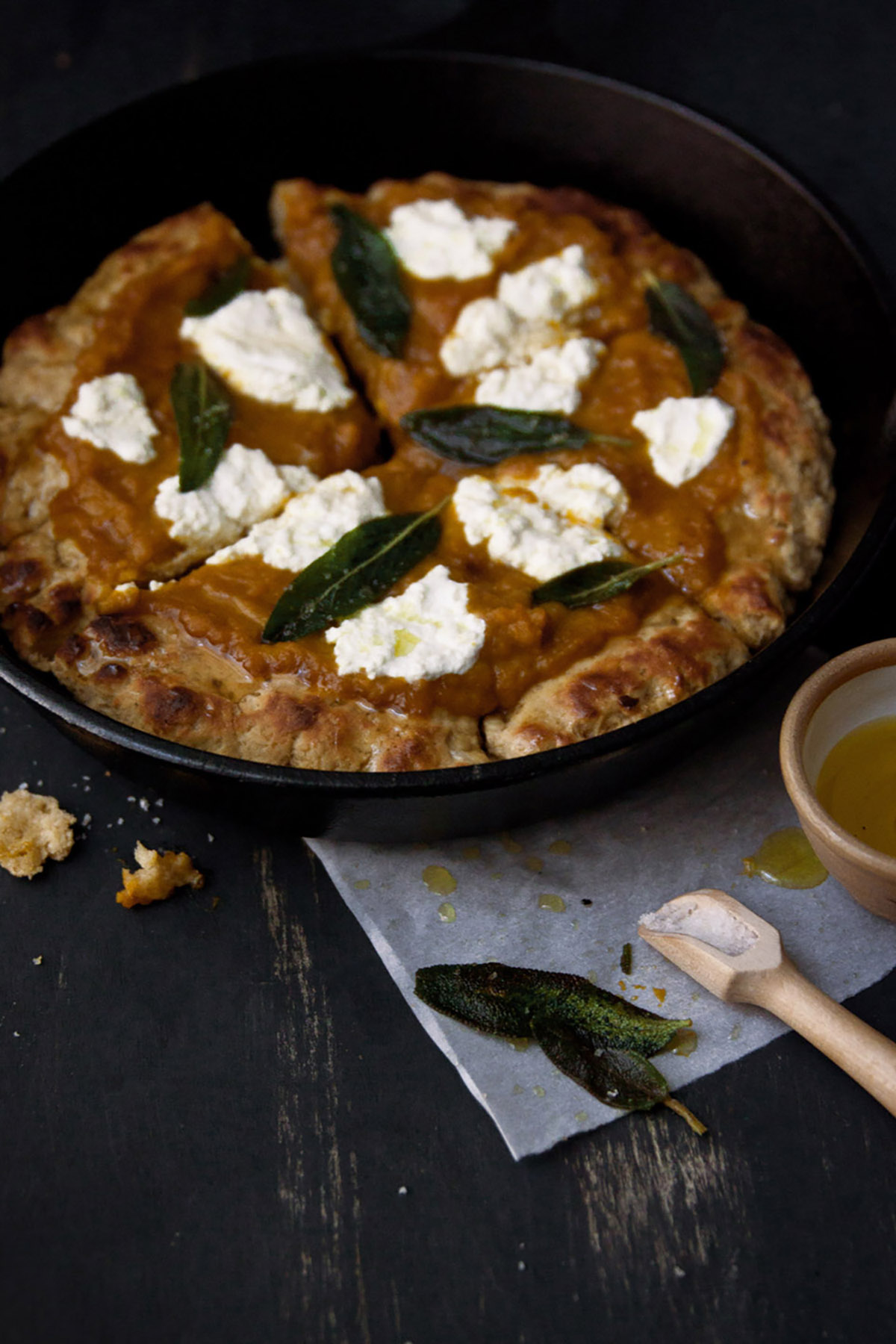 Pumpkin Ricotta Pizza with Graham Cracker Crust