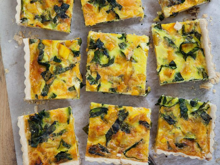 Delicata Squash and Kale Quiche