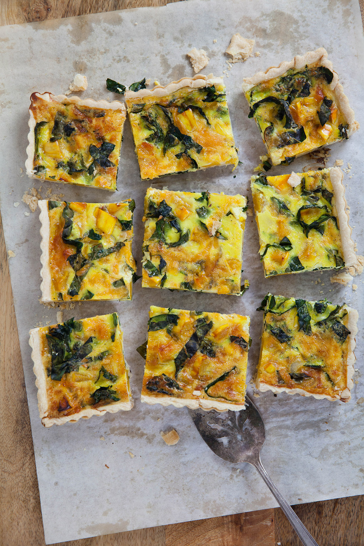 Delicata Squash and Kale Quiche