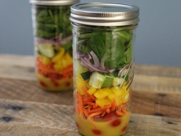 Rainbow Jar Salad
