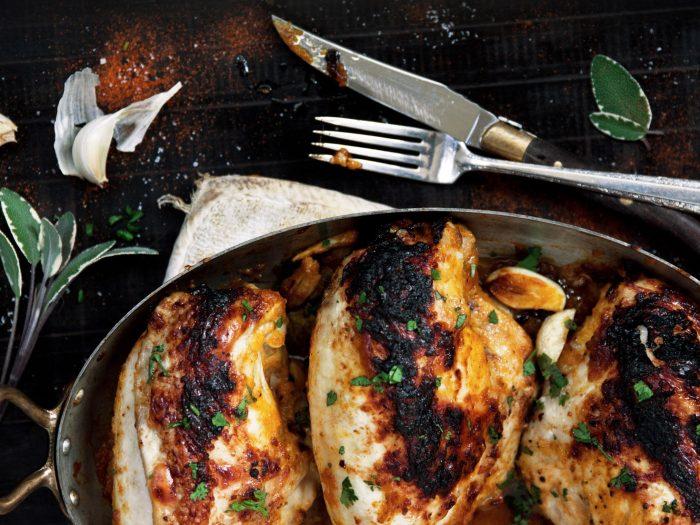 Roasted Chicken with Pumpkin Spice Marinade