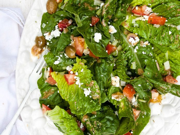 Romaine Salad with Red Wine Vinaigrette
