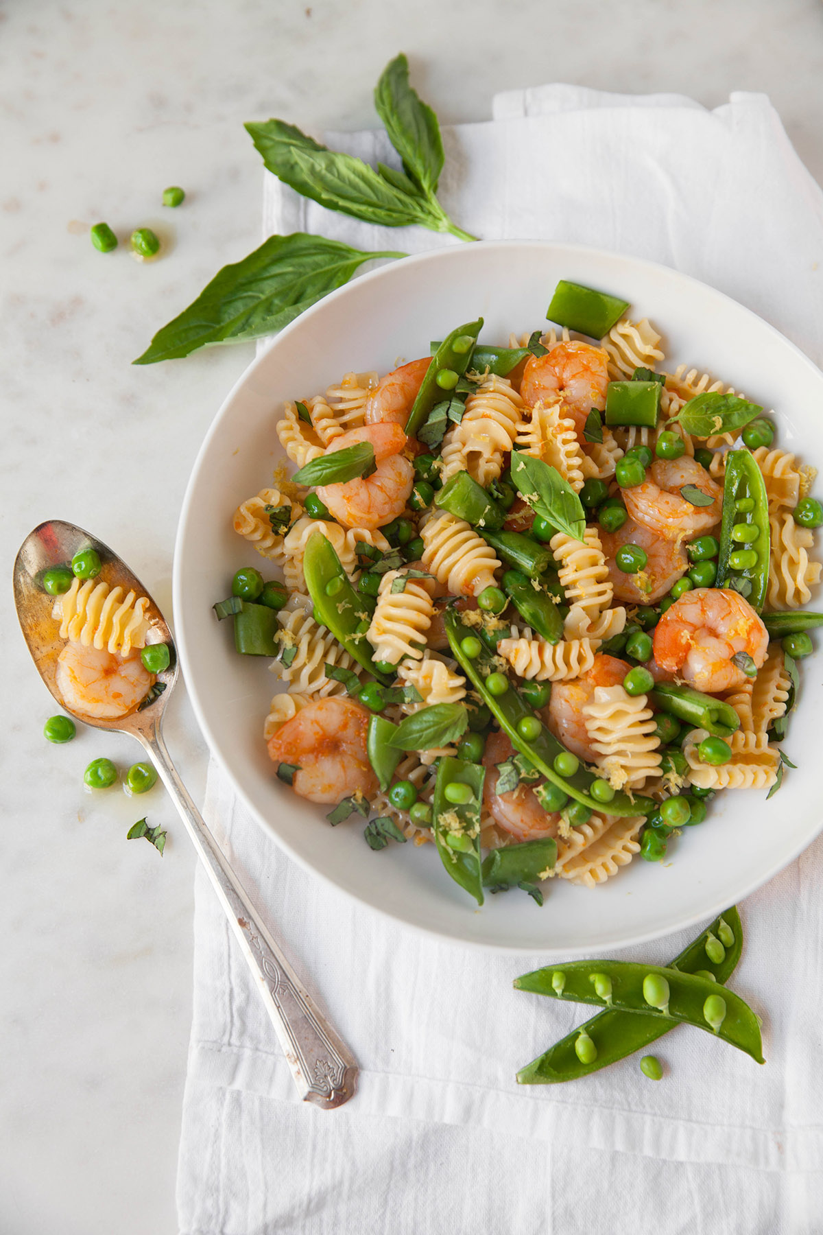 Shrimp and Spring Pea Pasta Salad