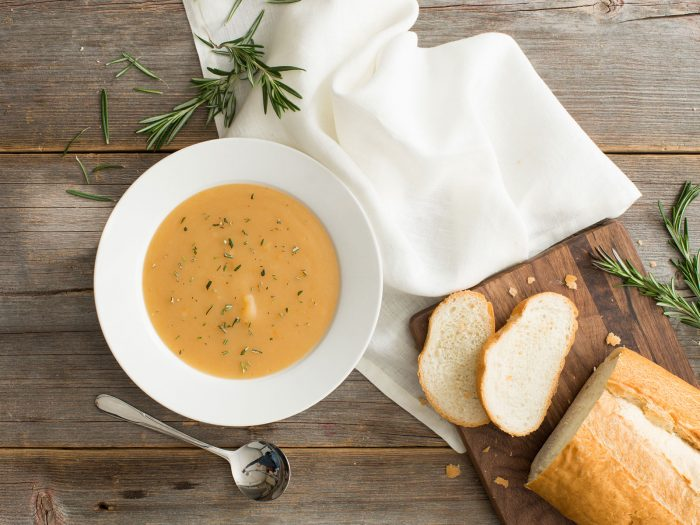 Winter Potato Soup with Rosemary