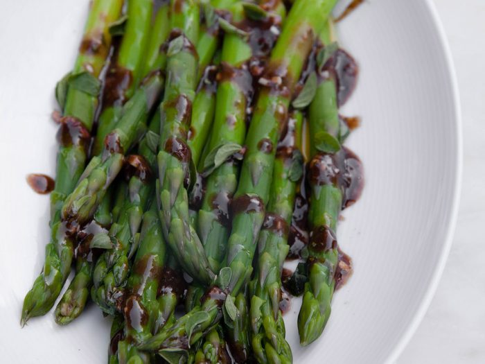 Asparagus Salad with Balsamic Glace Dressing