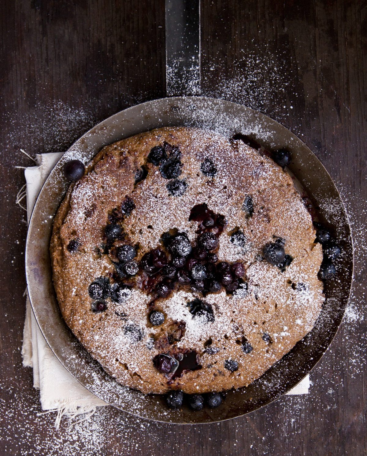 Blueberry and Oat Polenta Pancakes