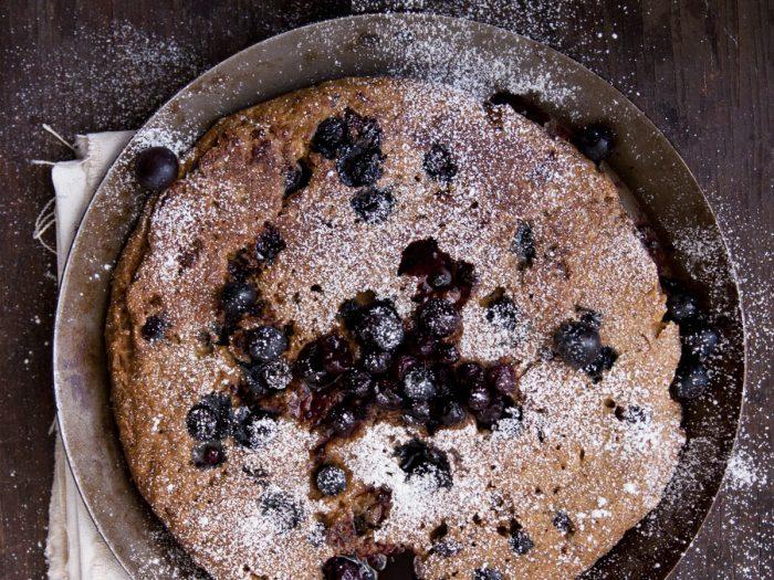 Blueberry and Oat Polenta Pancakes