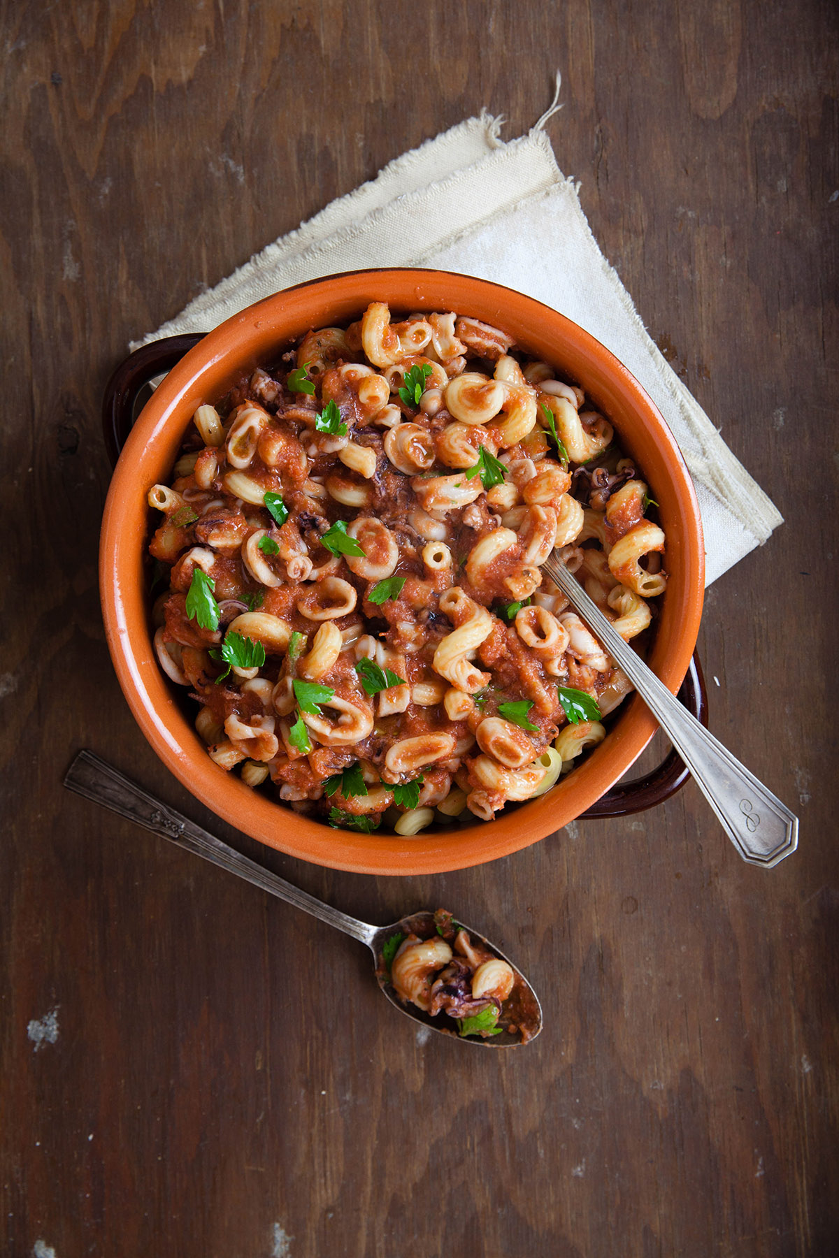 Pasta with Calamari Sauce