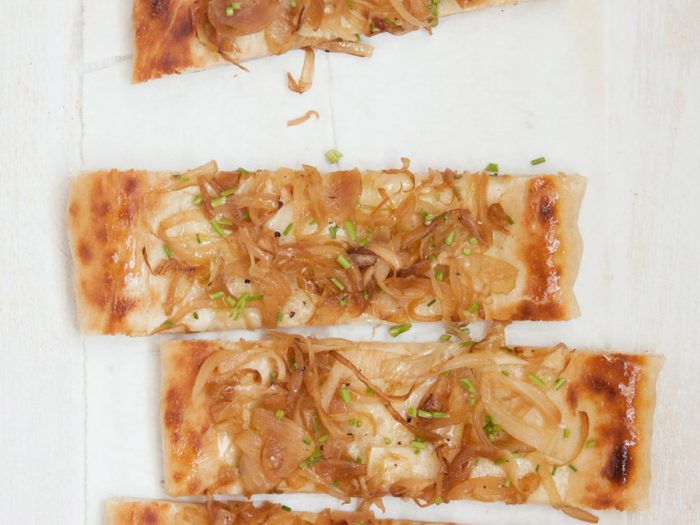 Caramelized Onion and Gruyere Pizza