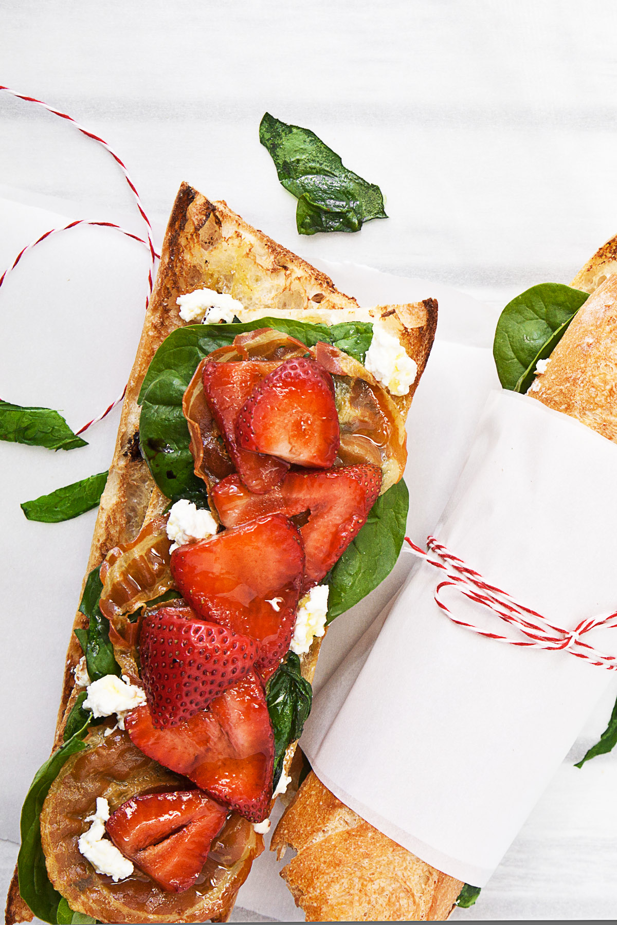 Strawberry and Spinach Crostini
