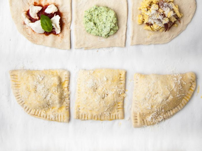 Zucchini and Ricotta Pizza Pockets