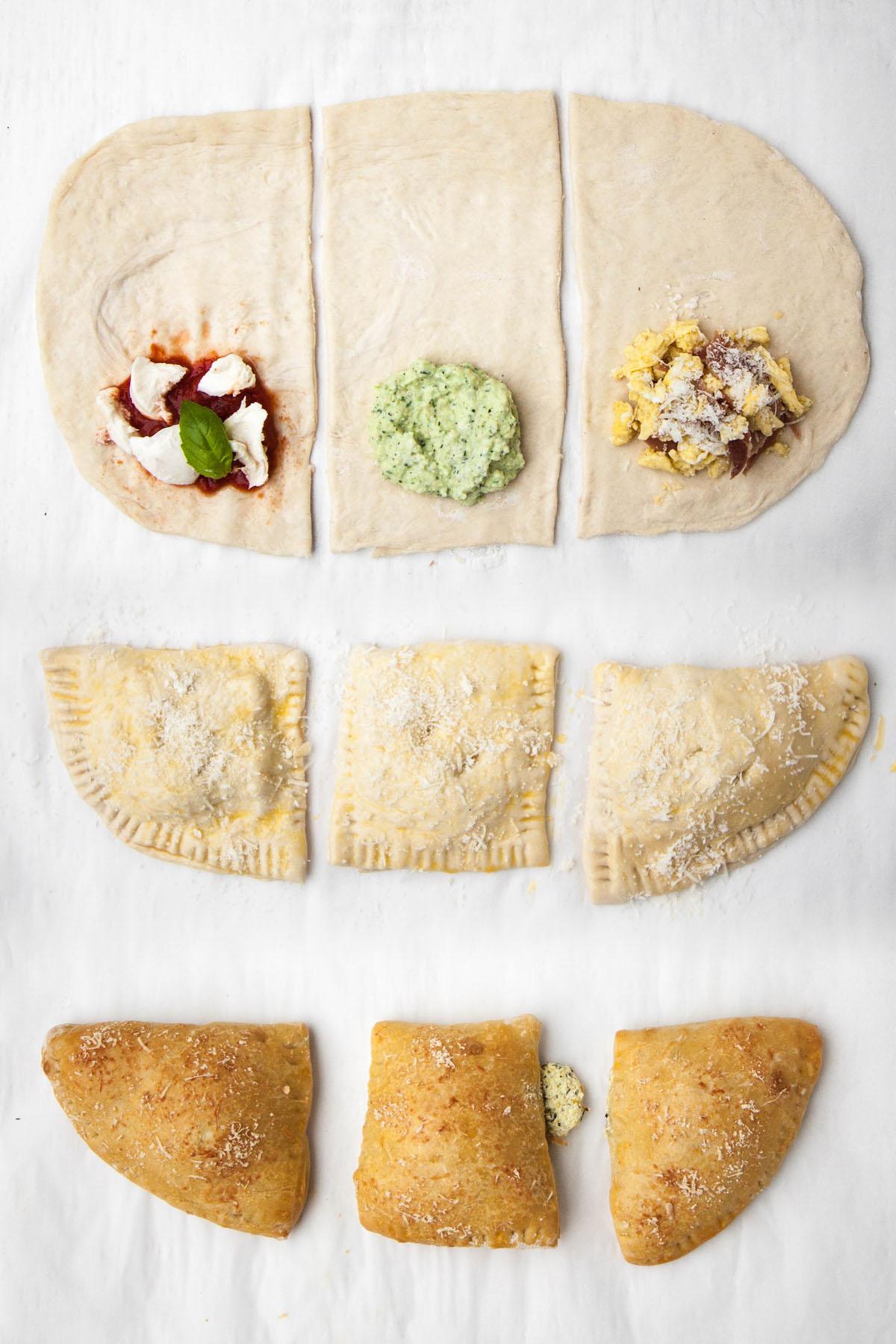 Zucchini and Ricotta Pizza Pockets