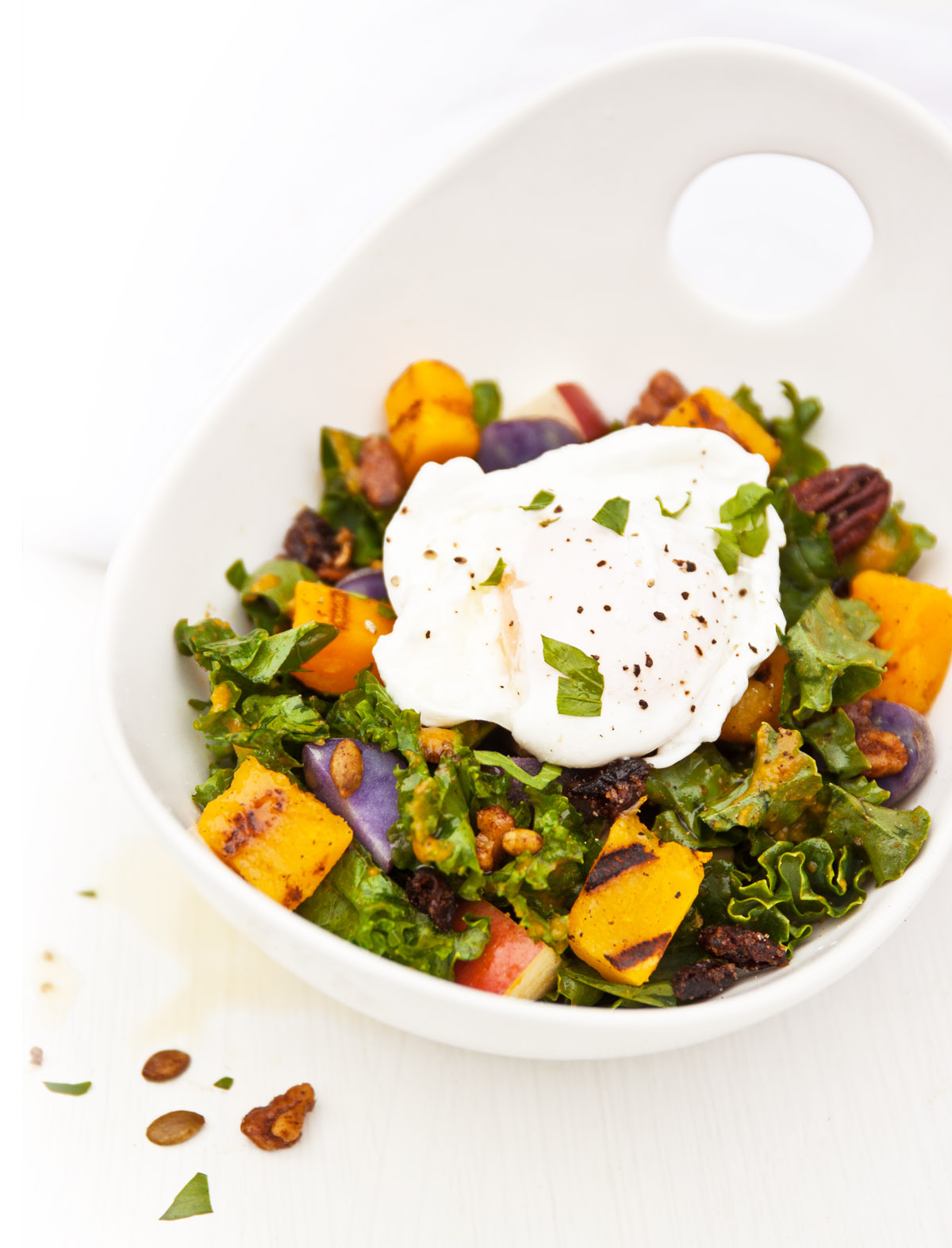 Grilled Pumpkin Salad with Autumn Vegetables