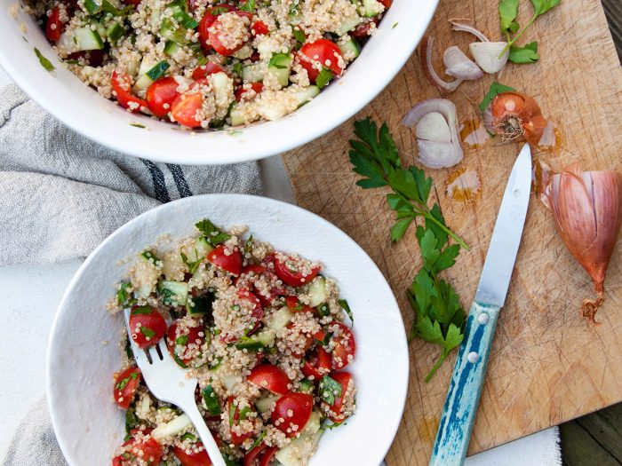 Cucumber, Tomato, and Parsley Quinoa Salad