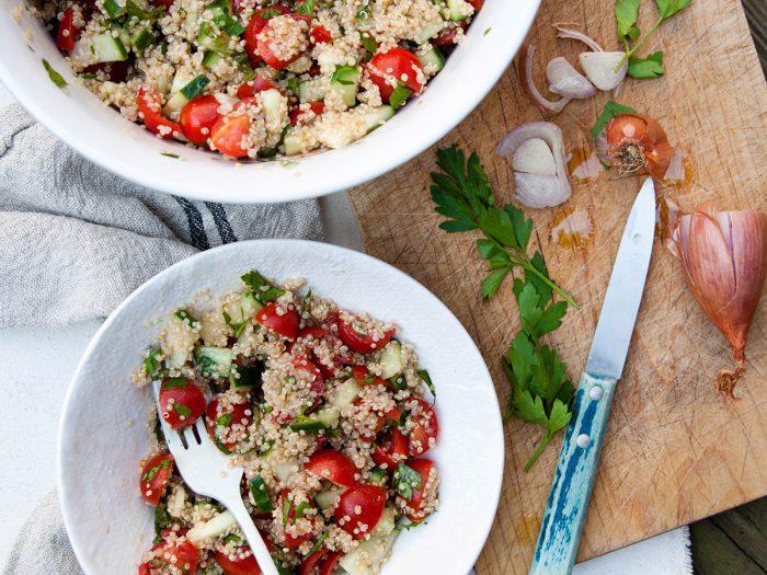 Cucumber, Tomato, and Parsley Quinoa Salad