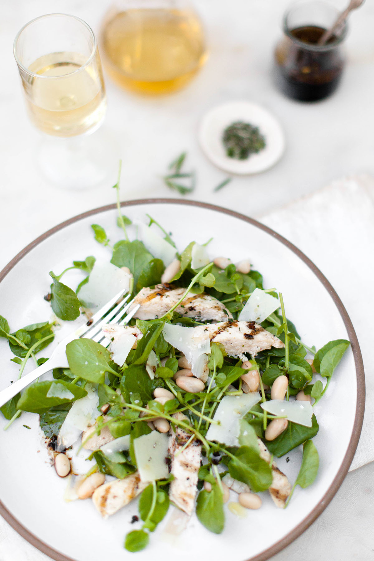 Chicken and Watercress Salad with Balsamic Dressing