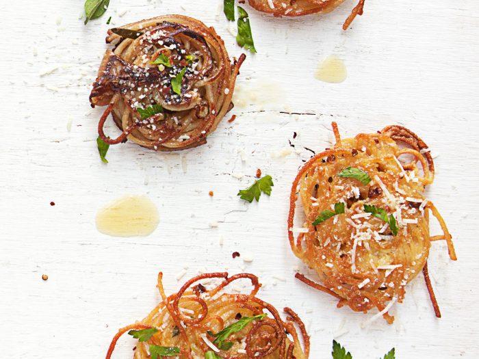 Scallion Spaghetti Pancakes
