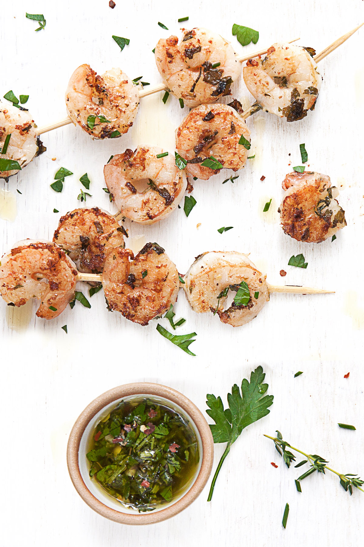 Garlic Marinated Grilled Shrimp
